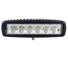 Proiector LED Auto Offroad 18W/12V-24V, 1320 Lumeni, Lungime 16 cm, Spot Beam 25 Grade