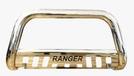 """Bullbar inox cu scut Ford Ranger T6 2012, 2013, 2014, 2015 Ø76mm / 3"""" FDA658"""