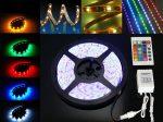 Banda led RGB siliconica 60 SMD-uri 5050/metru cu telecomanda