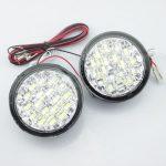 Lumini de zi rotunde 18 led*0,5W 12V - Off when headlight on