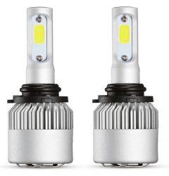 Set 2 leduri HB4 / 9006,  HB3 / 9005 Canbus pentru far auto putere 60W, luminozitate 4000 Lm, 12V
