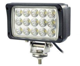 Proiector LED Auto Offroad 45W/12V-24V, 3300 Lumeni, Dreptunghiular, Flood Beam 60 Grade
