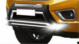 Bullbar poliuretan tip OEM cu DRL Nissan Navara NP300 2015, 2016, 2017, 2018, 2019 NSA168