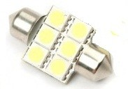 Led auto sofit cu 6 SMD 31 mm