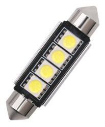 Led auto sofit Canbus cu 4 SMD 5050 41 mm - FT-5050-4-41MM