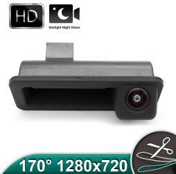 Camera marsarier HD, unghi 170 grade cu StarLight Night Vision pentru Ford Mondeo MK4, Focus MK2, Fiesta, Smax, Fusion pe manerul de la hayon - FA921