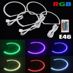 Kit Angel Eyes LED SMD BMW E46 RGB cu 16 culori cu telecomanda