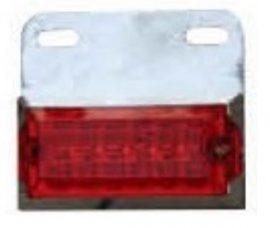 Lampa laterala cu LED 24V Rosie 148R24V