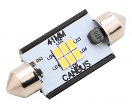 Led Auto Sofit 41mm Canbus 6 SMD 3020 fara polaritate - BTLE1276-41
