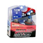 SET 2 BECURI AUTO H11 MTEC SUPER WHITE - XENON EFFECT