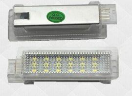 Lampi LED Portiere si Interior BMW F01, F20, F30 Lumina Alba+Rosie - BTLL-071B