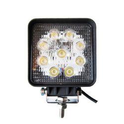 Proiector LED Auto Offroad 27W/12V-24V, 1980 Lumeni, Patrat, Flood Beam 60 Grade