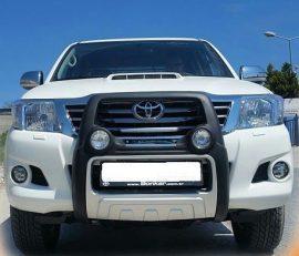 Bullbar poliuretan cu proiectoare Toyota Hilux 2005, 2006, 2007, 2008, 2009, 2010, 2011 TYA405