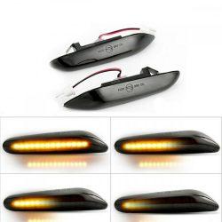 Set 2 Semnalizari Aripa LED Dinamice pentru BMW X1 E84, X3 E83, E60, E90, E91, E92, E93, E81, E82, E88 - BTLL-240-D Dynamic