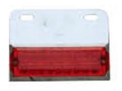 Lampa laterala cu LED 24V Rosie 143R24V