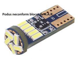 Led Auto Canbus T10 15 Smd 4014 9-30V - fara polaritate - BTLE1511