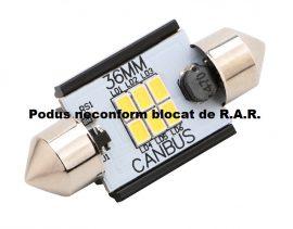 Led Auto Sofit 36mm Canbus 6 SMD 3020 fara polaritate - BTLE1276-36
