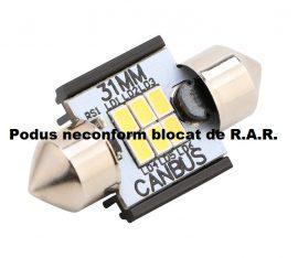 Led Auto Sofit 31mm Canbus 6 SMD 3020 fara polaritate - BTLE1276