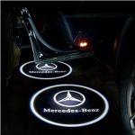 Proiectoare Portiere cu Logo Mercedes-Benz