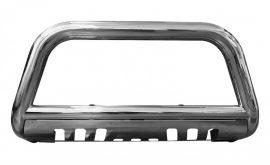Bullbar inox cu scut Toyota Vigo 2011, 2012, 2013, 2014, 2015 Ø76mm TYA157