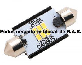 Led Auto Sofit 39mm Canbus 6 SMD 3020 fara polaritate - BTLE1276