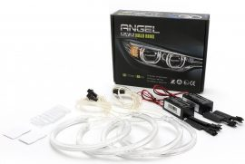 Kit Angel Eyes CCFL BMW E46 cu Far ZKW cu lupa si Cu Xenon din Fabrica - 4x131mm