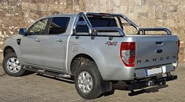 """Rollbar inox cu rail Nissan Navara NP300 2015, 2016, 2017, 2018, 2019  3""""/76mm RBL-NVR15-RBL"""