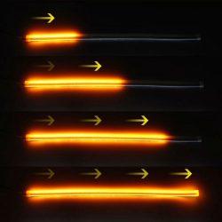 Lumini de zi cu semnalizare dinamica / secventiala tip Tub Neon Flexibil 60 cm DRL-60AG-FLOW
